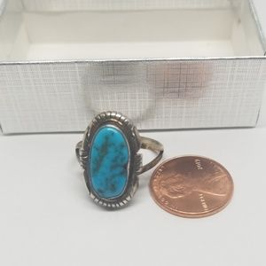 Turquoise and Sterling Silver ring  sz 9